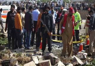 two military officers among 5 killed in blast in...