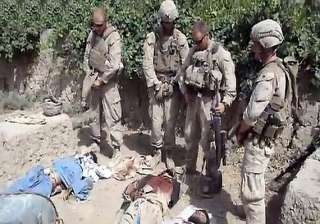 us marines guilty of urinating on taliban corpses...