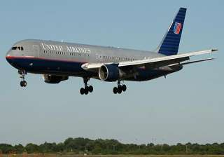 united airlines flight from delhi makes emergency...