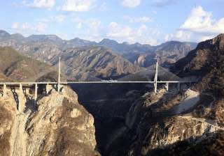 world s tallest suspension bridge unveiled in...