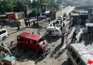 80 killed in taliban twin attacks in pak - India...