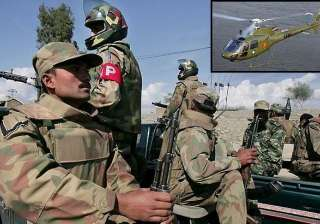 200 pak army men 4 pak choppers provided support...