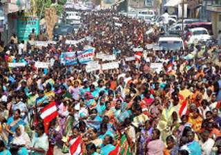 20 000 indian fishermen stage protest against sri...