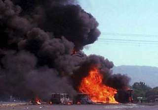 7 burnt alive as tanker catches fire on mumbai...