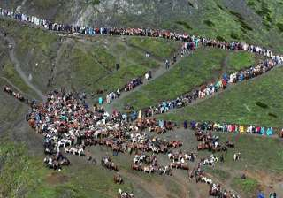 amarnath yatra suspended for second day from...