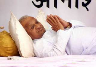 anna hazare admitted to pune hospital - India TV