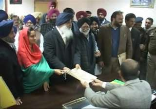badal files nomination says fight will be tough -...