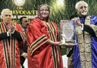 bangladesh pm hasina receives doctorate gets...