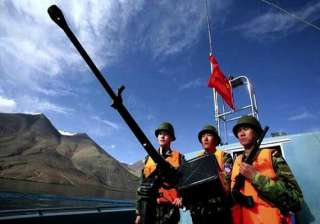 chinese troops make bids to enter indian waters...