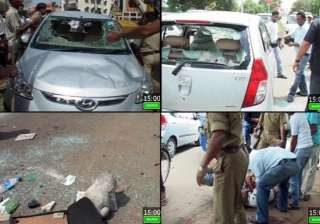 court employee injured in firing near dhoni s...
