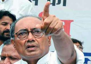 digvijay singh s car stoned in mp town - India TV