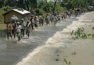 fifteen villages submerged ten thousand affected...