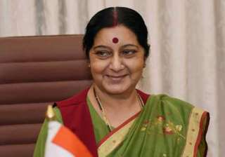 foreign minister sushma swaraj flags off...
