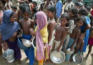 global hunger index india at 63rd position still...