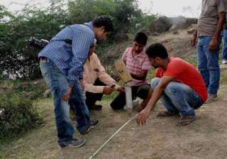 gold treasure hunt asi notices one meter thick...