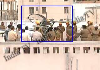 hal chopper forcelands on apartment roof - India...