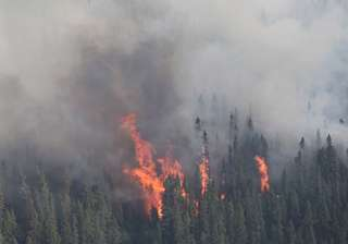 heavy forest fire engulfs loc belt in poonch...