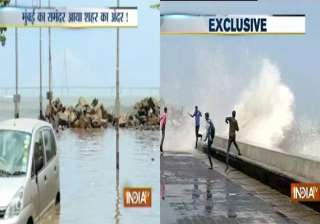 high tides in mumbai city suffers from water...