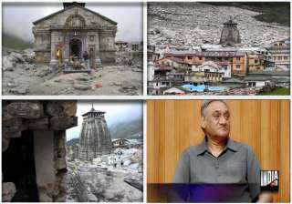 huge rock that saved kedarnath temple will be...