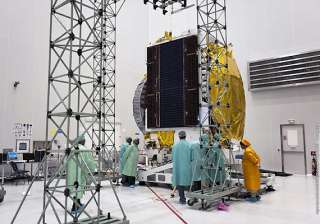 india s first defence satellite all set for...
