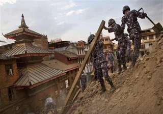 nepaldevastated earthquake kills six soldiers -...