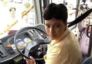 dtc gets its first woman bus driver - India TV