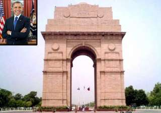 obama in india india gate lawns closed for public...