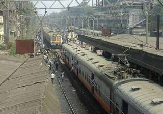 suburban train services hit in mumbai as angry...