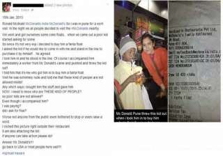 netizens outraged as mcdonalds outlet in pune...