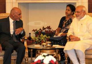 ghani modi hold delegation level talks - India TV
