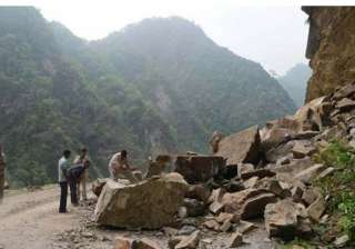 landslide on the route to badrinath strands over...