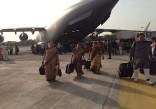 iaf c 17 aircraft with 237 indians from...