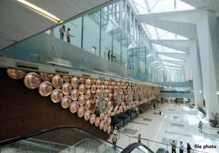 delhi airport bags golden peacock national...