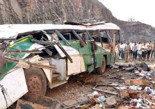 four killed 40 injured as bus falls into gorge -...