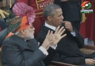 obama in india us president spotted chewing gum...