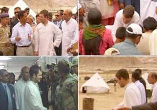 rahul s visit a healing touch for leh cloudburst...
