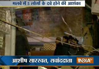 four storey building collapses in northeast delhi...