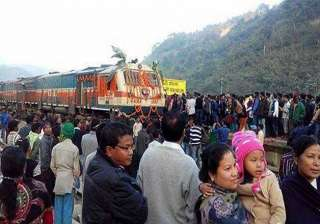 broad gauge rail line opened in dima hasao...