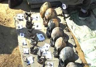 enquiry demanded into discovery of human skulls...