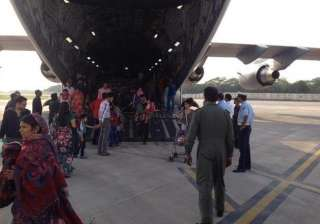 iaf planes evacuate 1935 stranded indians from...