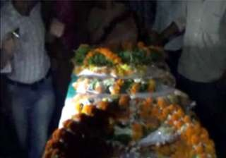 loc five martyred army jawans given state funeral...