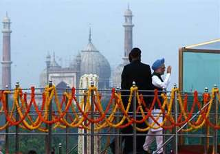 manmohan singh to hoist flag at red fort for 10th...