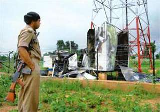 maoists blow up mobile towers ahead of modi rally...