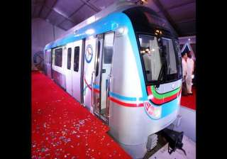 model coach of hyderabad metro unveiled - India TV