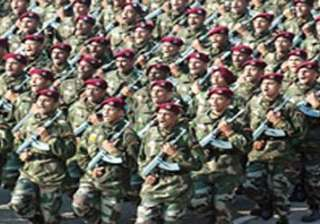 month long indian army exercise along pak border...