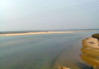 most rivers in west midnapore flowing above...