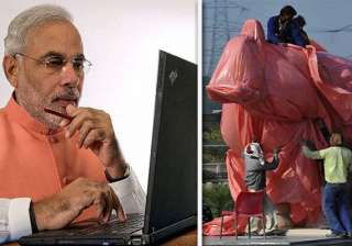 narendra modi ridicules ec decision of draping...