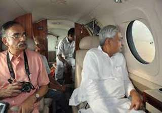 nitish conducts aerial survey of flooded areas -...