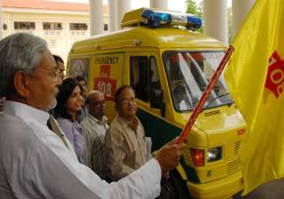 nitish flags off advance life support ambulance -...