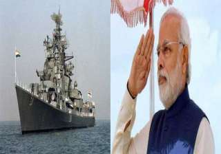 pm likely to induct warship ins kolkata in mumbai...
